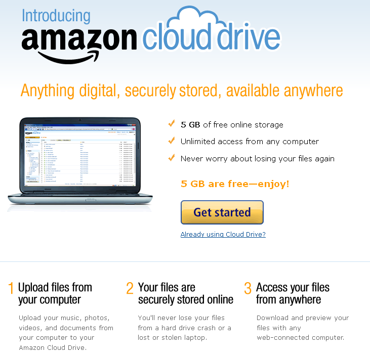 Amazon Cloud Drive - Learn More