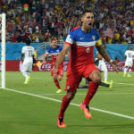 Dempsey after scoring against Ghana, but before getting his face broken