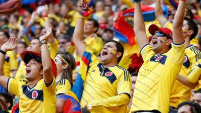 Colombia fans celebrate