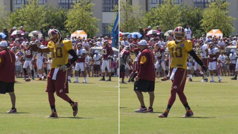 Griffin has a swagger to his step. #SkinsCamp Redskins Training Camp 2015
