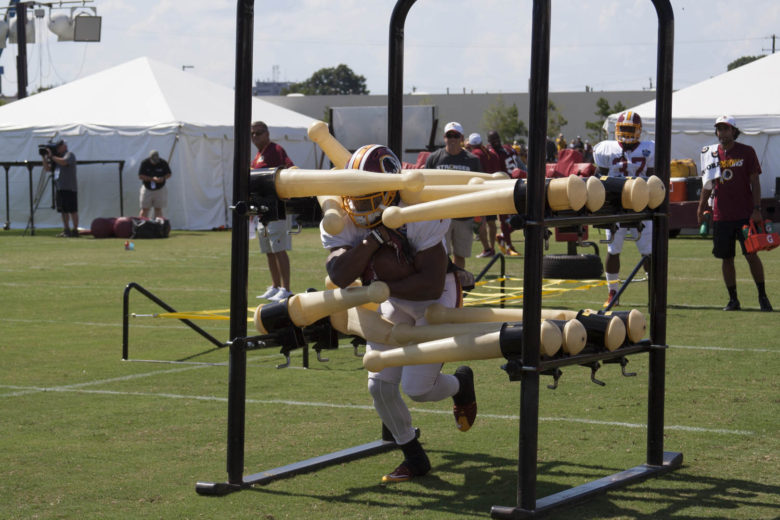 Running backs doing drills #SkinsCamp Redskins Training Camp 2015