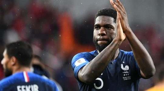 French defender Samuel Umtiti, a teammate of Lionel Messi on Barcelona, knows the danger Argentina presents. (Franck Fife/Getty Images) via WashingtonPost