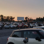 Mini Coopers lined up at the Family Drive-In, Stephens City