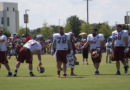 Lining up for warmups #SkinsCamp Redskins Training Camp 2015