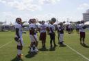 Running backs doing drills #SkinsCamp Redskins Training Camp 2015