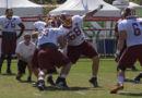 Offensive lineman drills #SkinsCamp Redskins Training Camp 2015